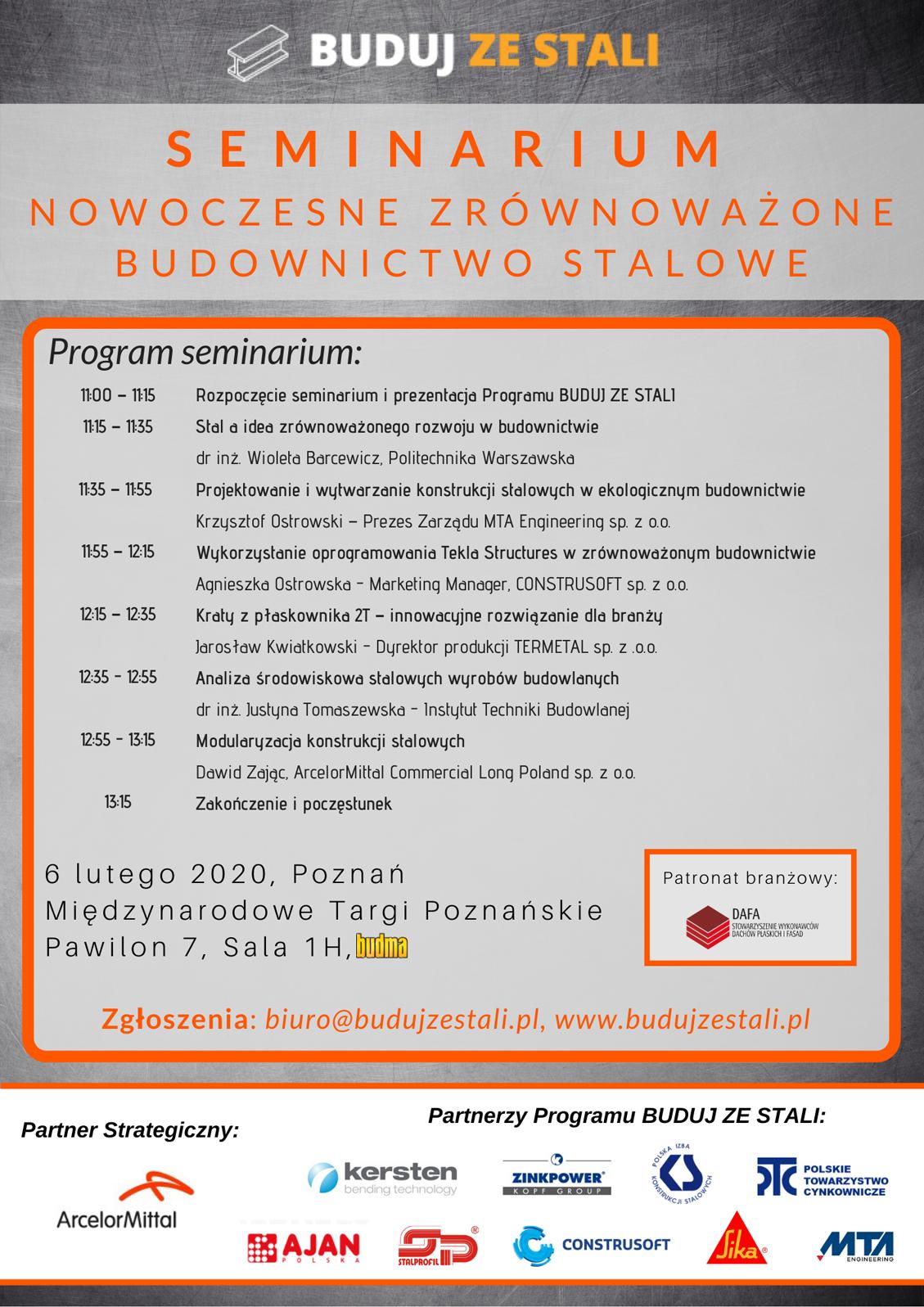 Seminarium BUDUJ ZE STALI - 6.02.2020 R.